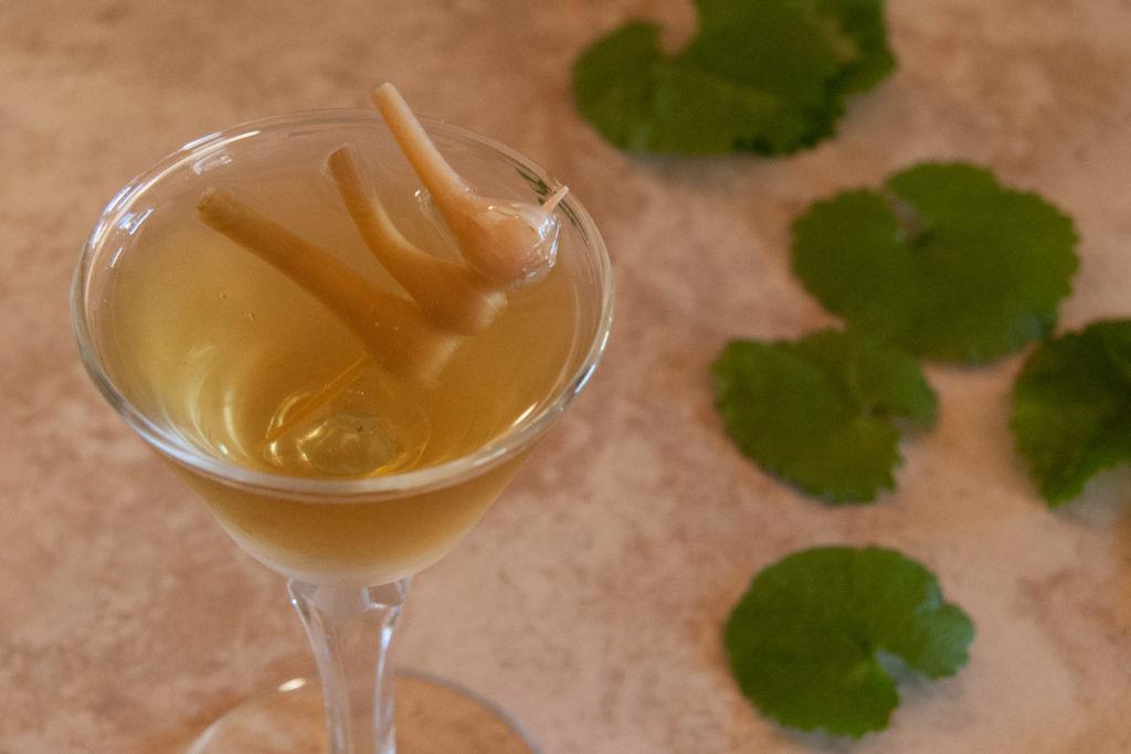 garlic mustard martini