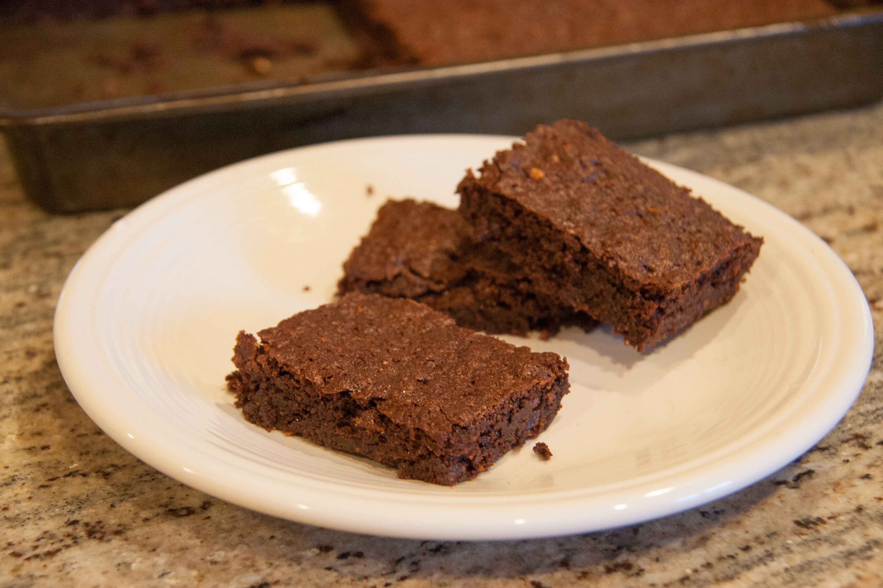 Dock Flour Brownies with California Bay Nuts