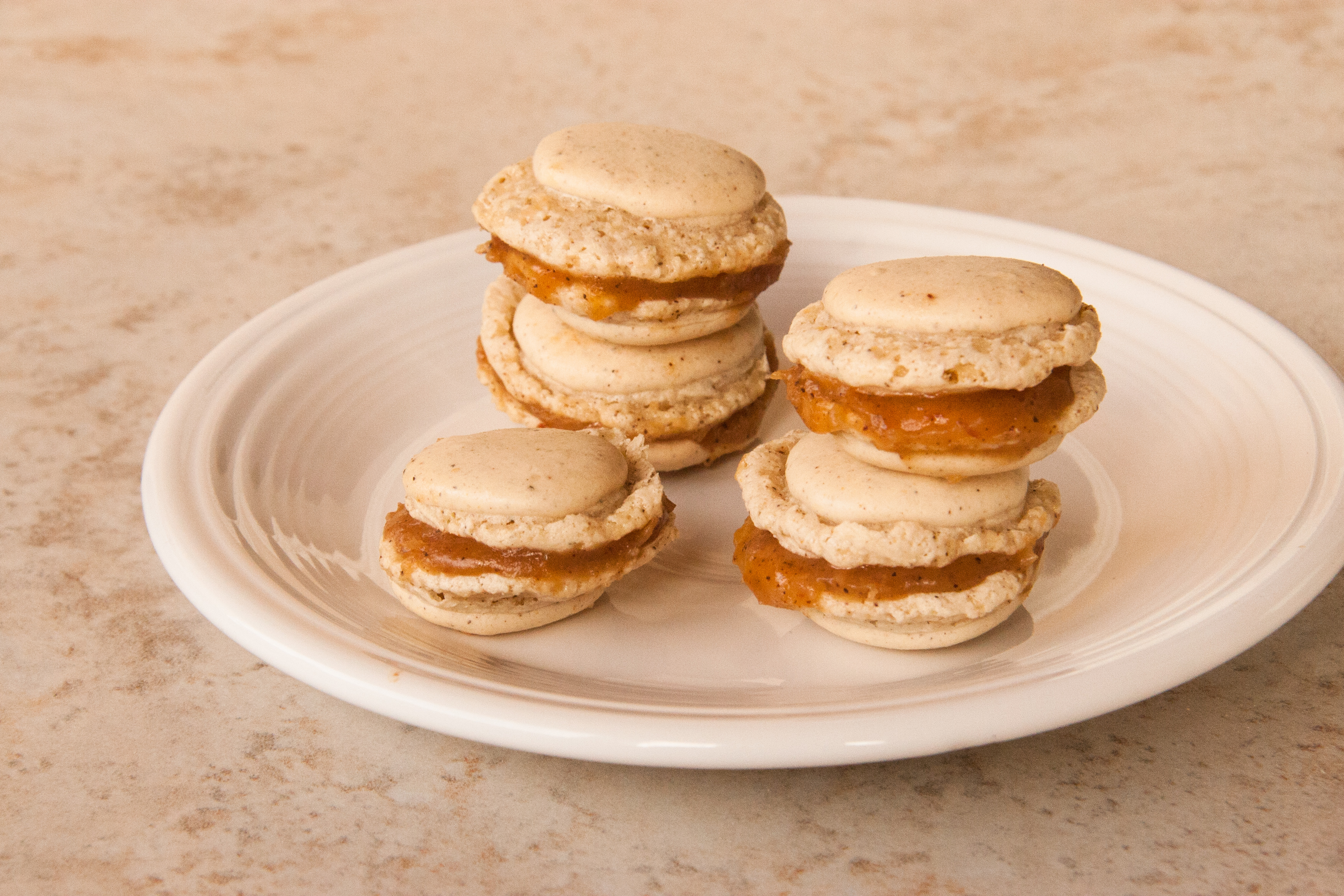 Foraged Macarons (with Spicebush Berries & Crabapple Filling)