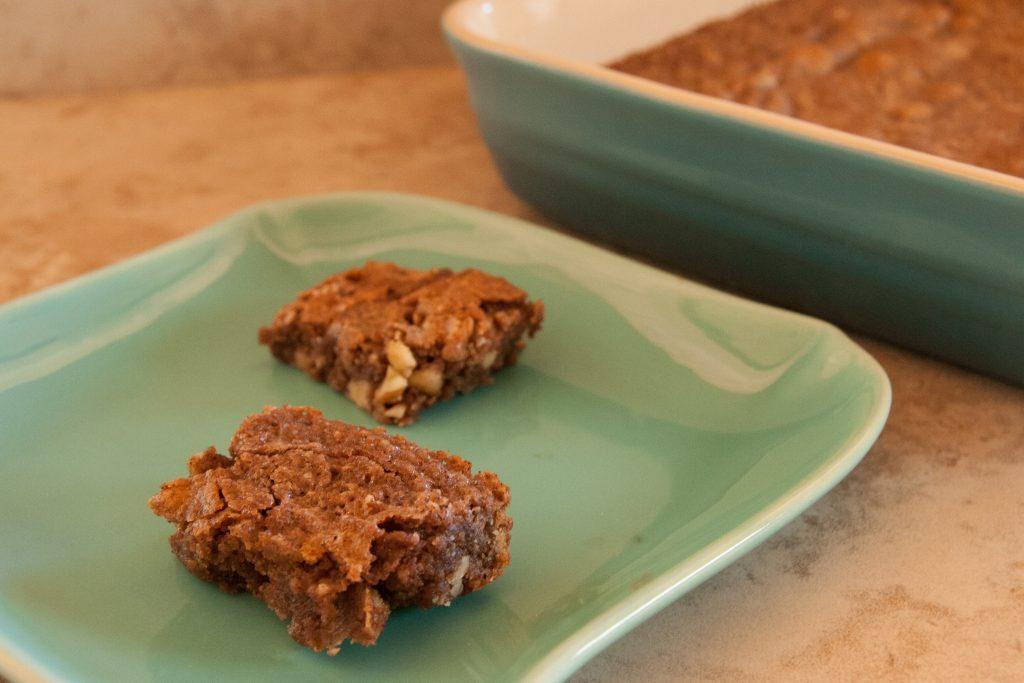 black walnut and carob dessert bar