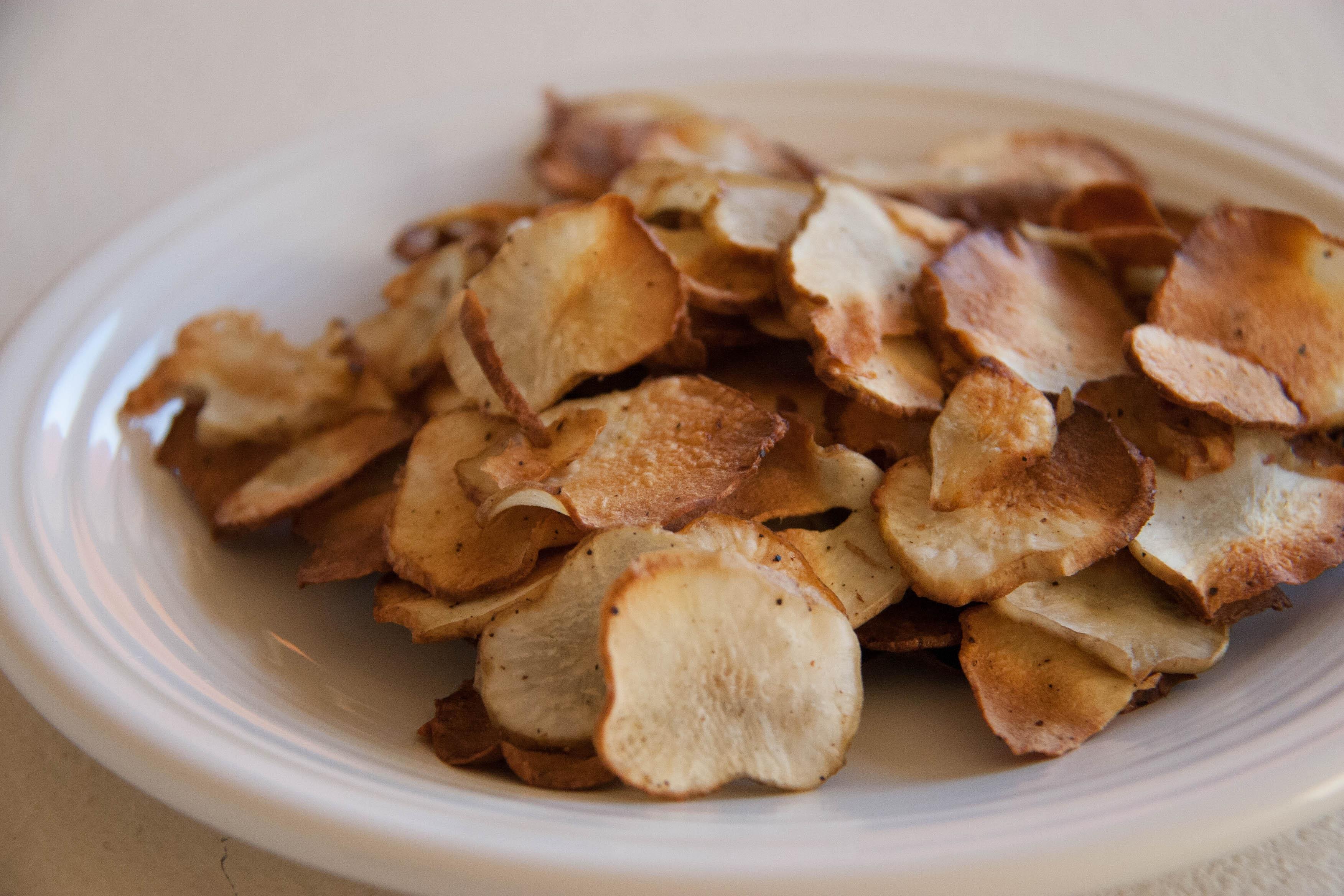 Baked Sunchoke Chips: Recipe
