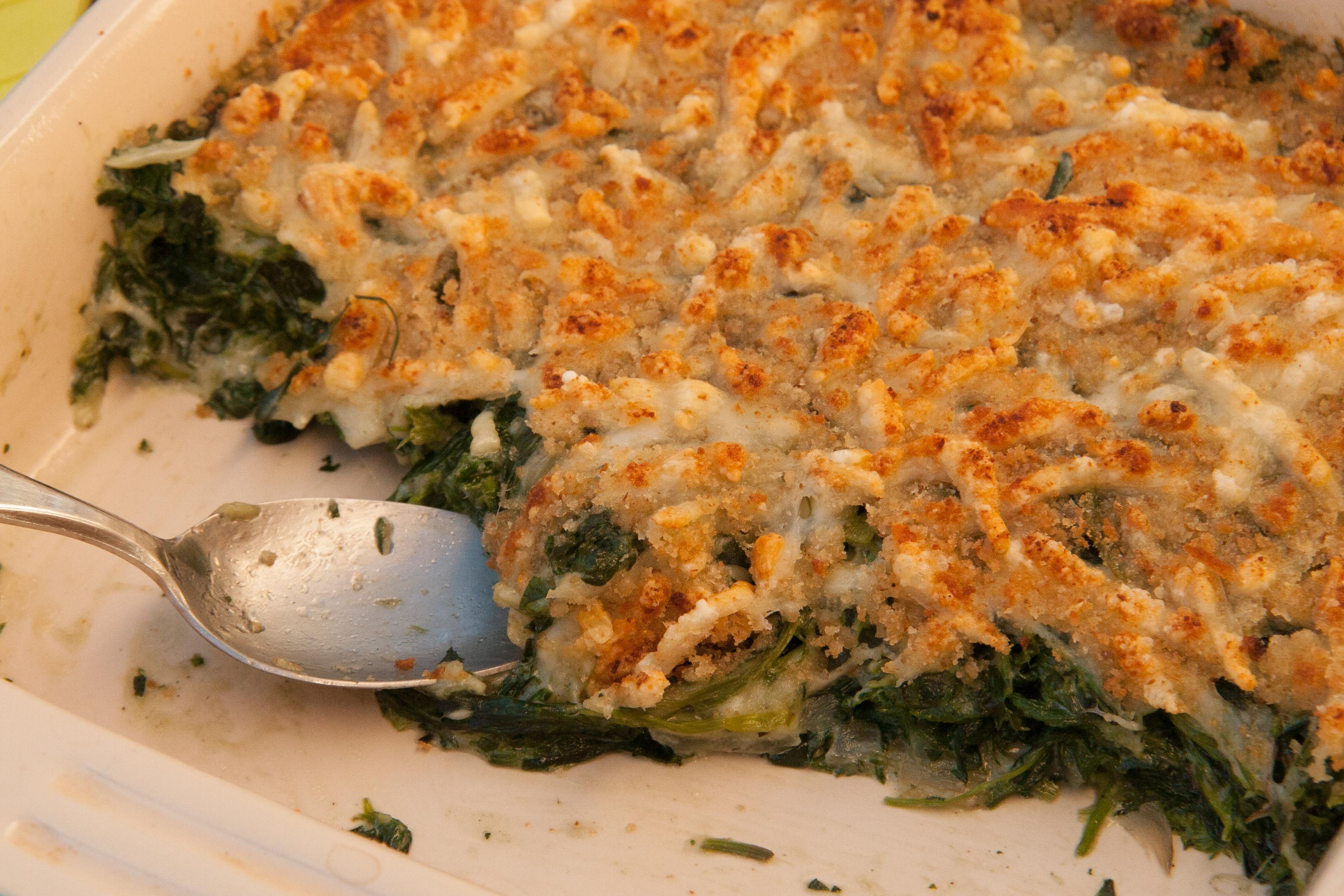 Spring Greens Gratin: Recipe