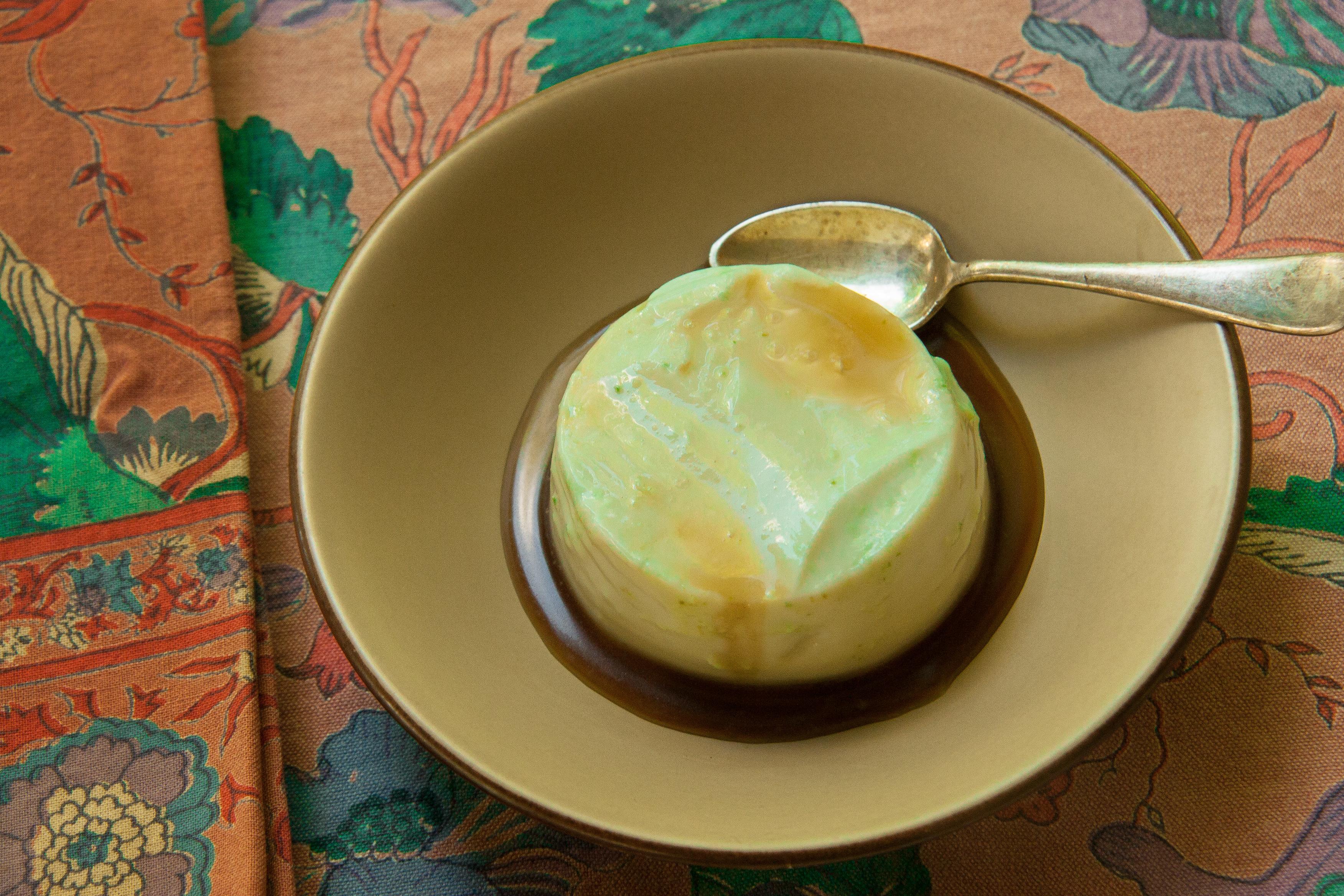 Spruce Tip Panna Cotta: Recipe