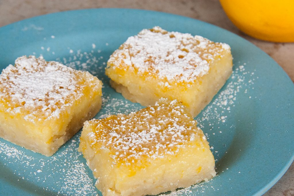 lavender Meyer lemon bars