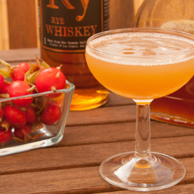 Roses & Rye: a Rosehip Whiskey Cocktail